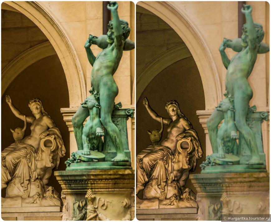 скульптуры во изящном дворике Музея изящных искусств (Musee des Beaux-Arts)