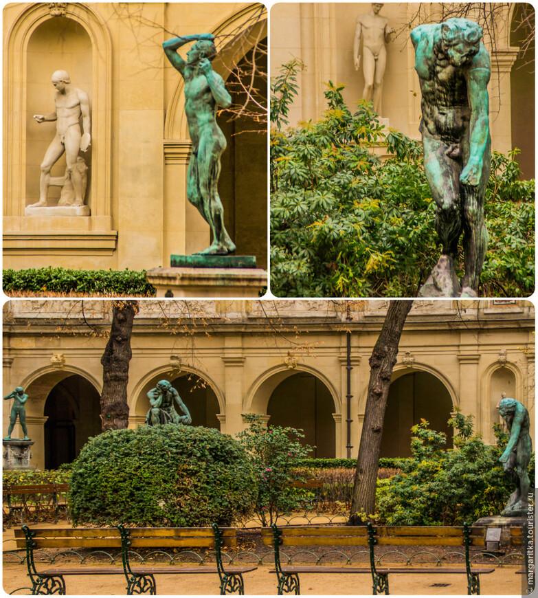 Экспозиции организованы примерно по жанрам. Собрание скульптур XIX-XX веков, представленное работами Кановы, Бари и «Искушением Святого Антония» Родена, размещено в бывшей капелле на первом этаже.