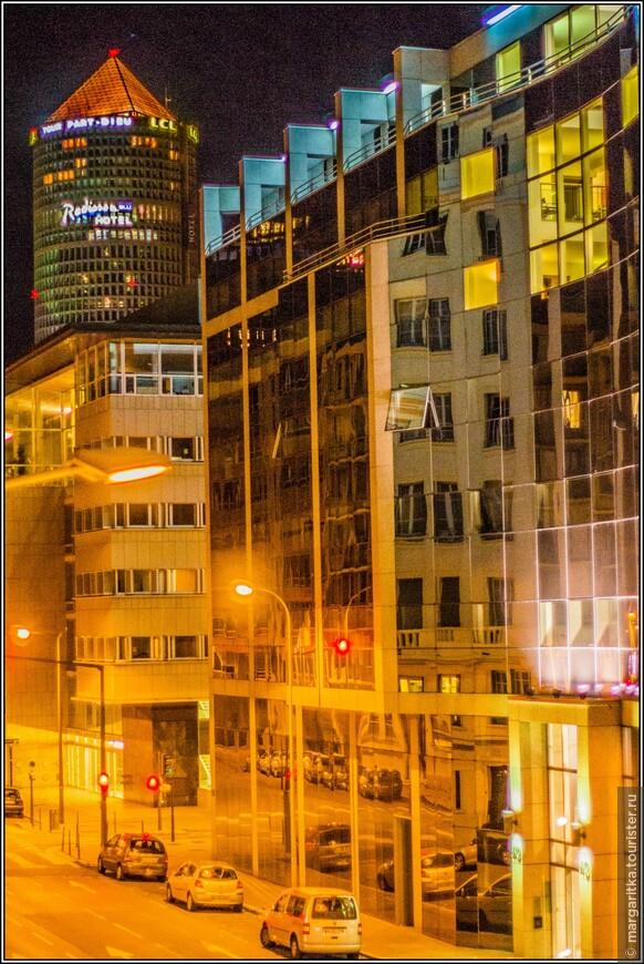 улицы Лиона ночью