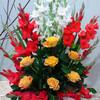 Уже доставленные цветы: № 70-1: композиция из роз и гладиолусов - 70$