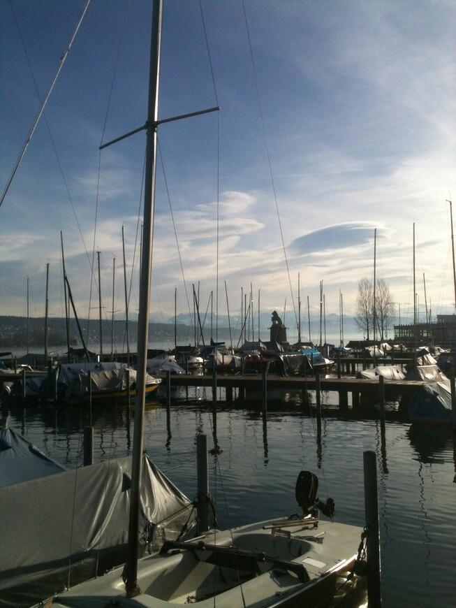 Цюрихское озеро. (Экскурсия на машине по Цюриху)