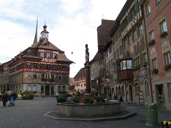 Расписной город Штайн-ам-Райн (Экскурсия Рейнский водопад - Шаффхаузен - Штайн-ам-Райн)