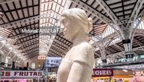 Памятник маме из риса на Центральном рынке Валенсии (La Fallera - Monumento Arroz De Madre), 01:03