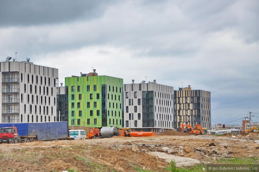 04. С 2015 года Иннополис получил статус города, уже сейчас заканчивают первый жилой квартал. Это максимальная планируемая высота жилых строений в городе (в первом этапе строительства).