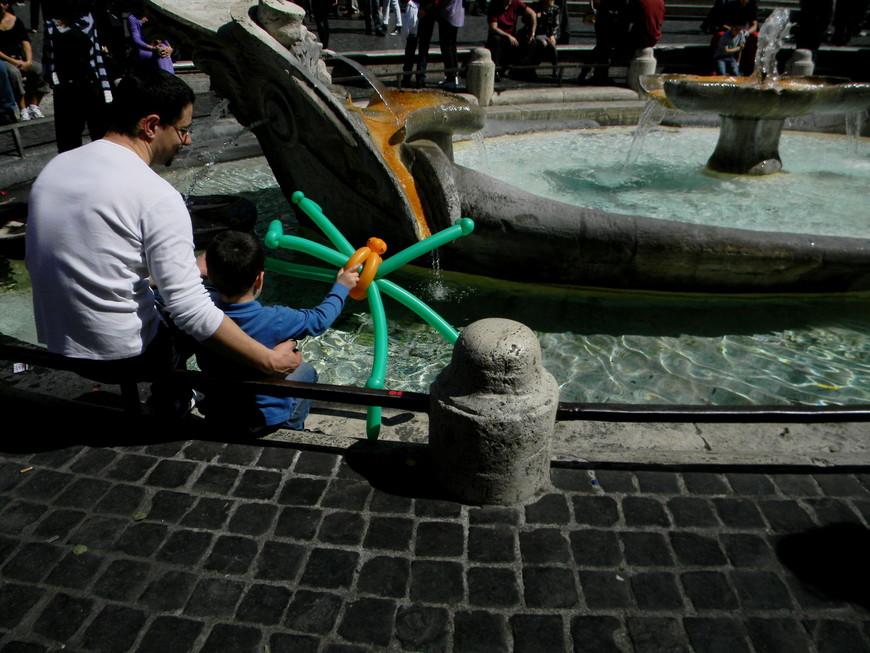запуск паука в фонтан