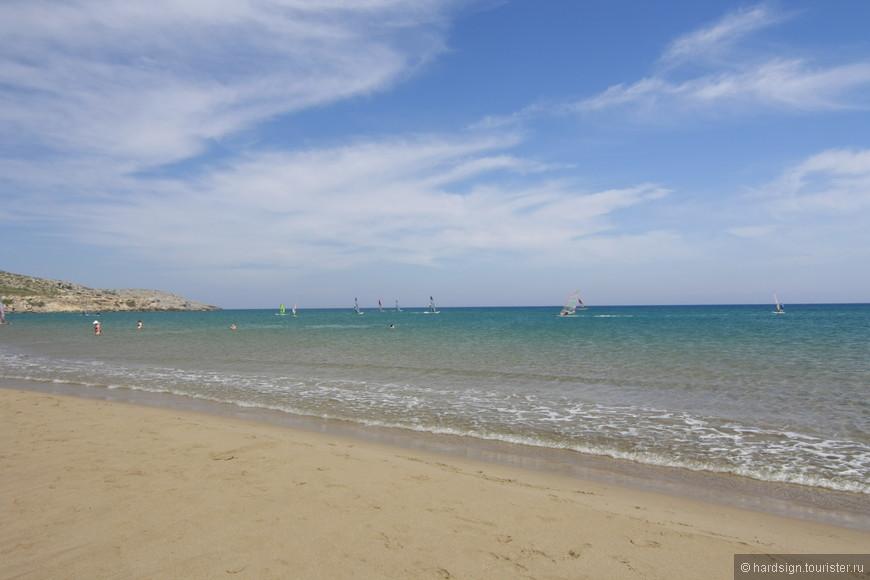 Спокойно и ласково Средиземное море