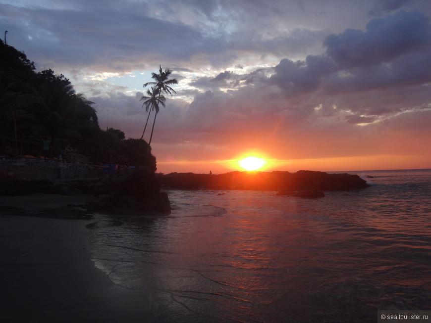 и красивые закаты Гоа