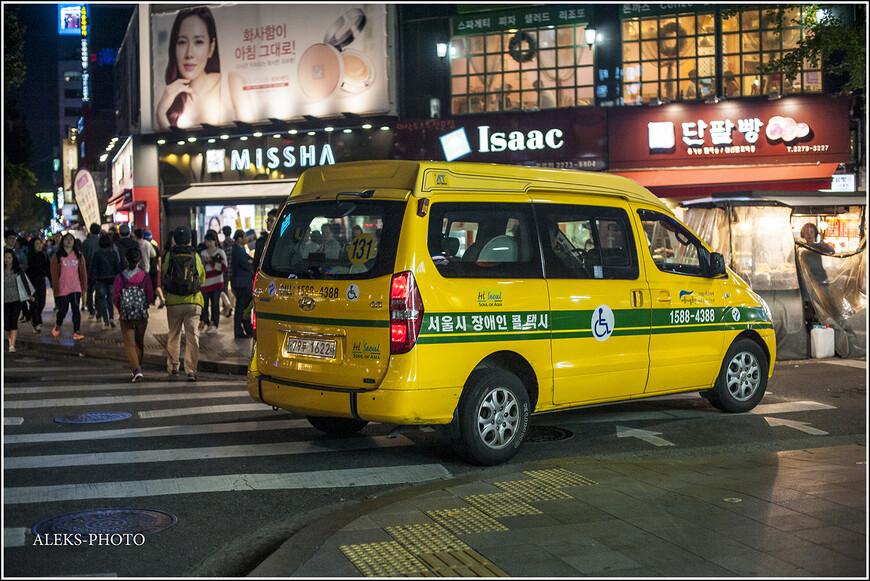 Такая вот корейская машинка, в которой могут ездить инвалиды в колясках. молодежь ходит косяками. Именно она и приведет нас в район Мендон.