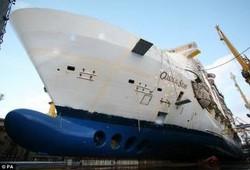 Работы по отделке крупнейшего в мире круизного судна завершены