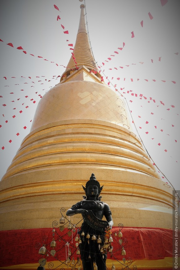 Ступа буддийского храма в Бангкоке