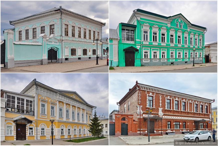 13. Дома в центральной, исторической части города в отличном состоянии, многие из них заняты музеями. В Елабуге также проводится ночь музеев.