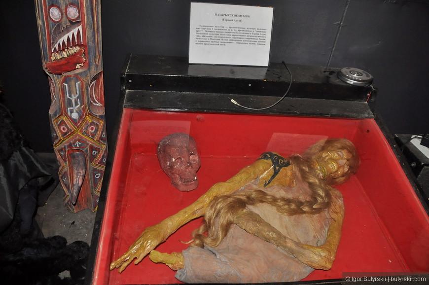 10. Пазырыкская мумия. Мумия из Горного Алтая, из-за определенных климатических условий было найдено много таких мумий.