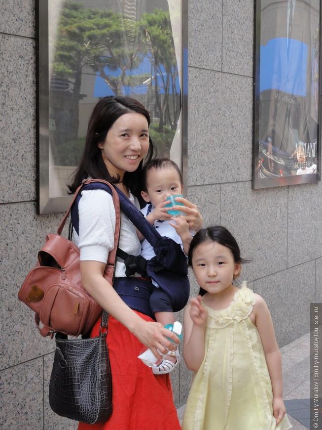 Кореянка и ее дети