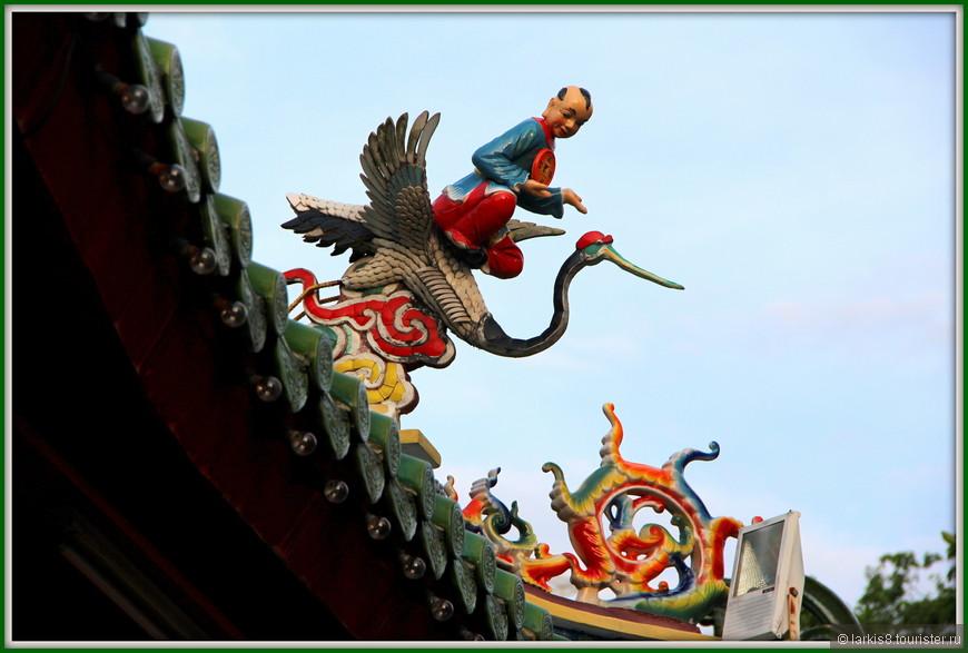 Элементы оформления китайского храма очень симпатичные!