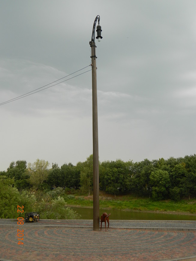 Памятник электрификации Вологды (собачку постоянно перекрашивают хулиганы)