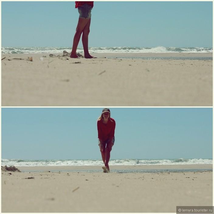 горячий песок, бежим скорее к морю!