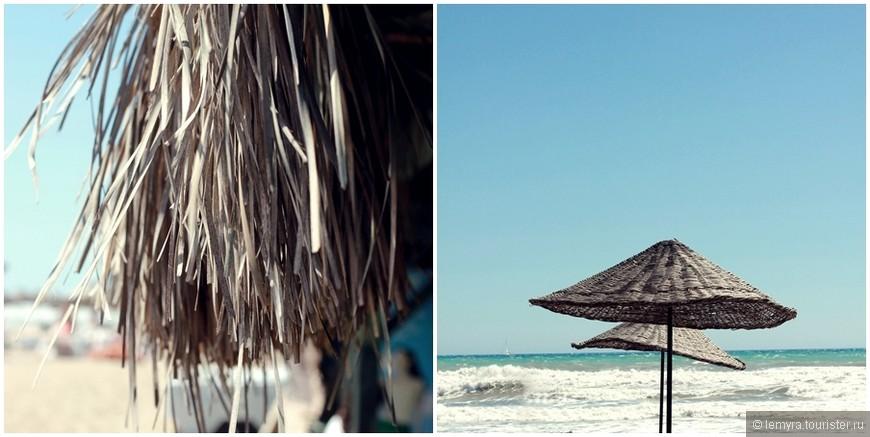 Прокат двух лежаков и одного зонтика в день - еще 10лир. Путешествие в Патару выходит не совсем дешевым :(