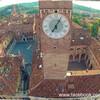 Башня Ламберти в Вероне - смотровая площадка и часы.