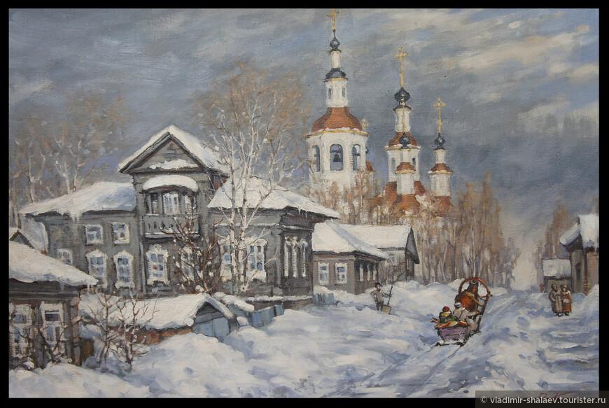 Церковь Входа Господня в Иерусалим на полотне вологодского художника Валерия Попова.