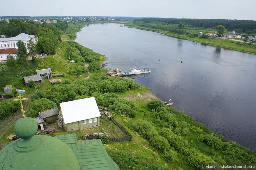 Пристань на реке Сухоне.