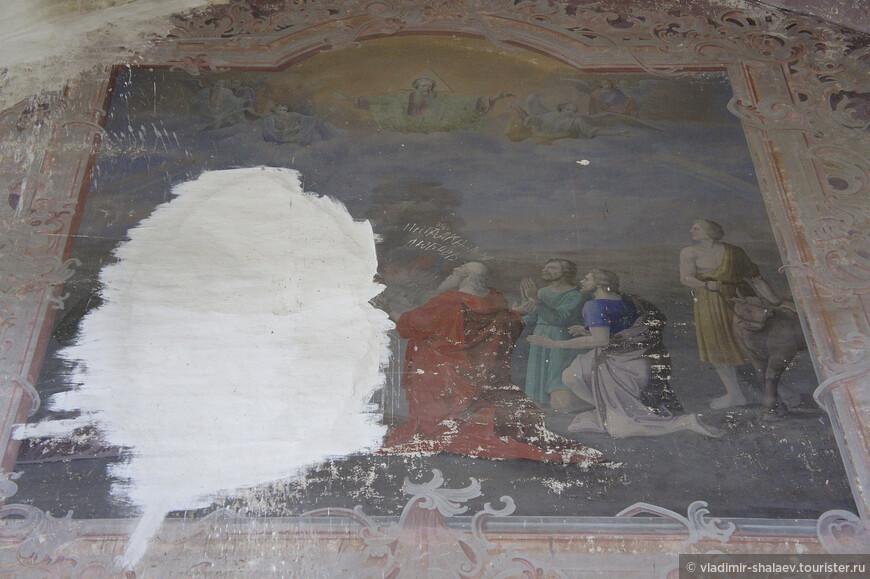 Фрагмент храмовой живописи.