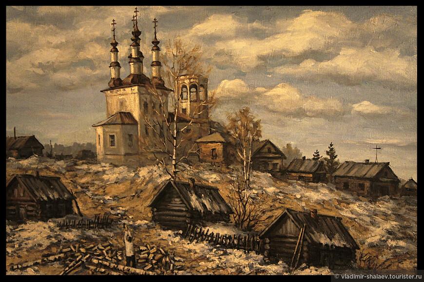 Церковь Воскресения Христова в Варницах на картине вологодского художника Валерия Попова.