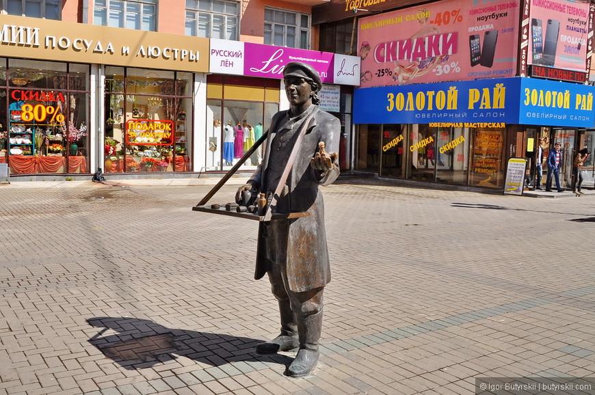 34. Скульптура «Коробейник» тоже была установлена в 2006 году.