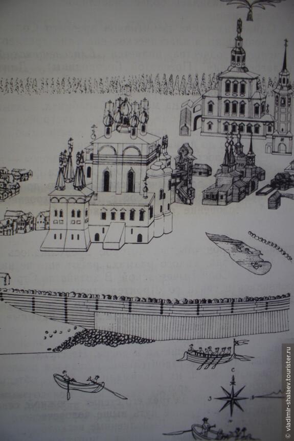 Вид Благовещенского собора в XVIII веке. (Фрагмент плана А. Чудинова)