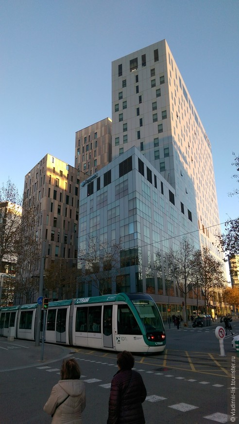 Район современных офисных высоток на Avinguda Diagonal