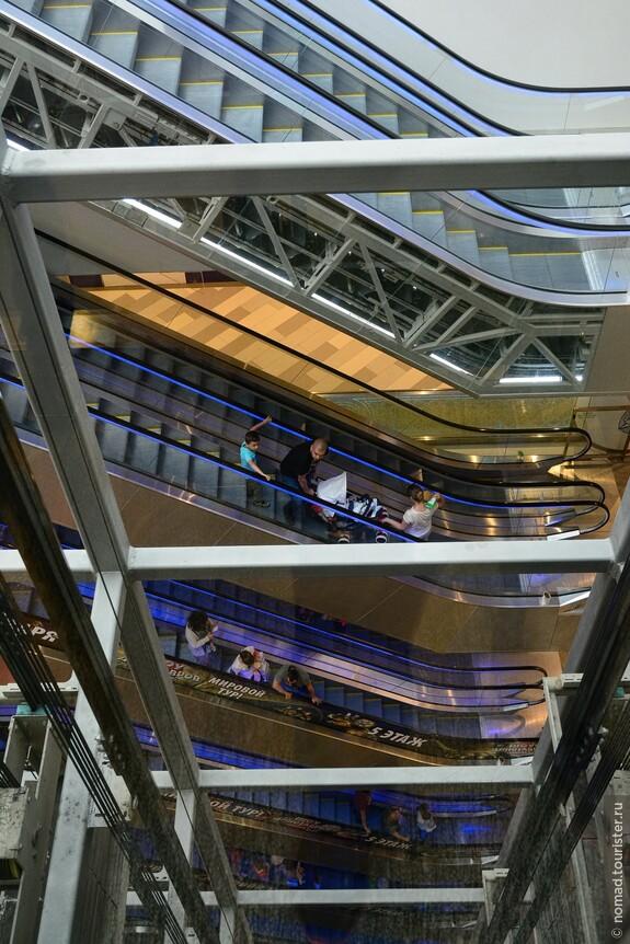 Итак, нам нужно найти лифт или эскалаторы, и подняться на самый верх магазина...