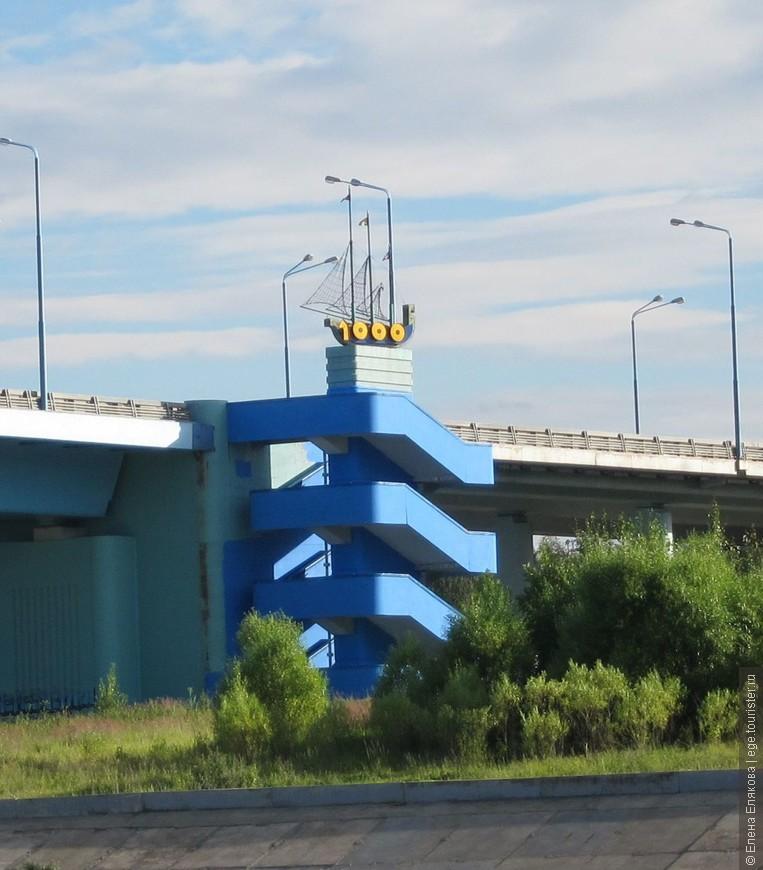 Фрагмент автомобильного моста, открытого в год 1000-летия Ярославля