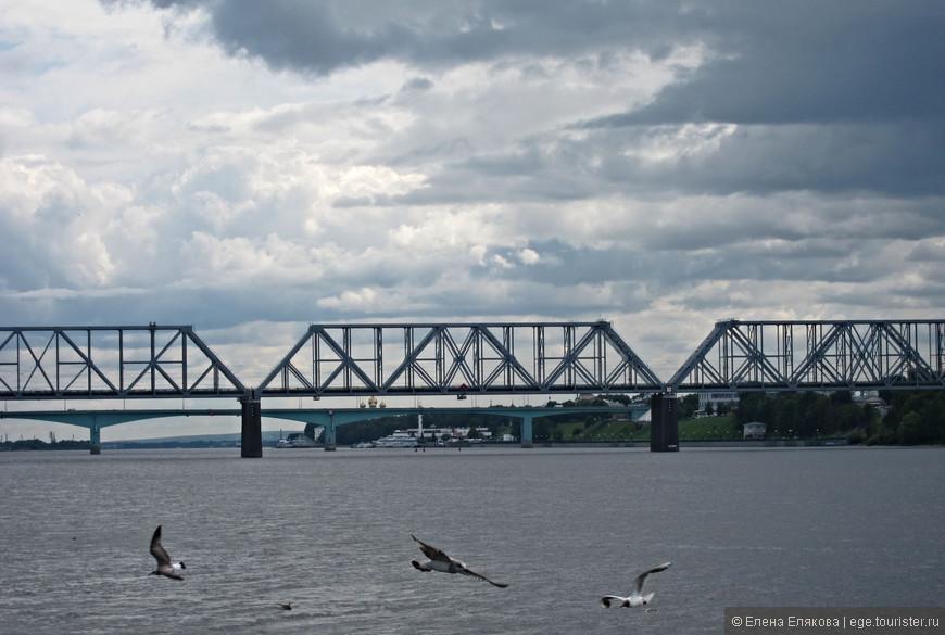 Железнодорожный и автомобильный мосты