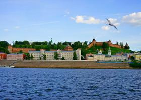 Вид на Нижний Новгород с Волги- отдать концы!