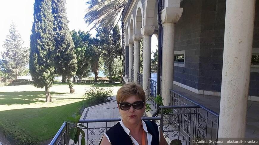 Капернаум. Сад на горе Блаженств, место нагорной проповеди Христа.