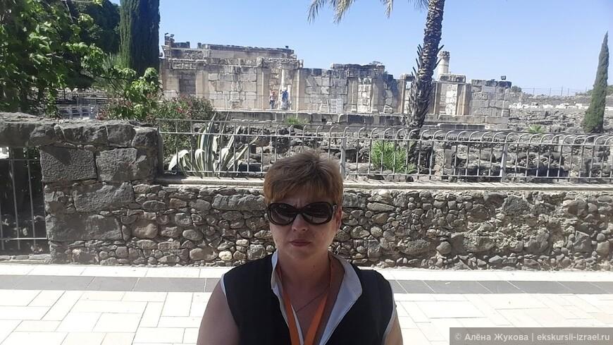 древняя синагога в библейском Капернауме.