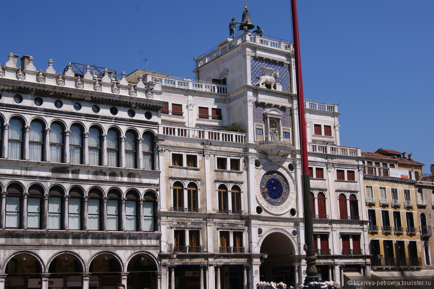 Астрономические часы на площади Сан Марко показывают и времена  года, и фазы луны, и знаки зодиака.