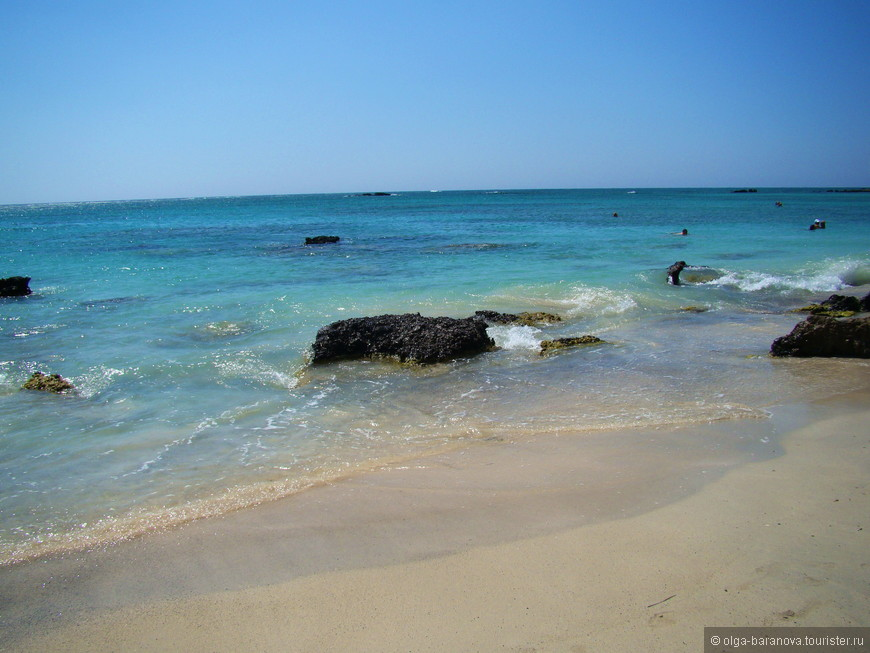 Находится пляж Элафониси на западе острова, если вы туда поедите на автомобиле, то вот вам координаты для навигатора DD: 35.272273,23.542493, DMS: N35°16'20», E23°32'33» . Ехать вам нужно будет по национальной трассе в сторону города Кастели Киссамос, там увидите большой указатель на Элафониси (Elafonissi).  Рядом с пляжем Элафониси (Elafonissi) отелей нет.