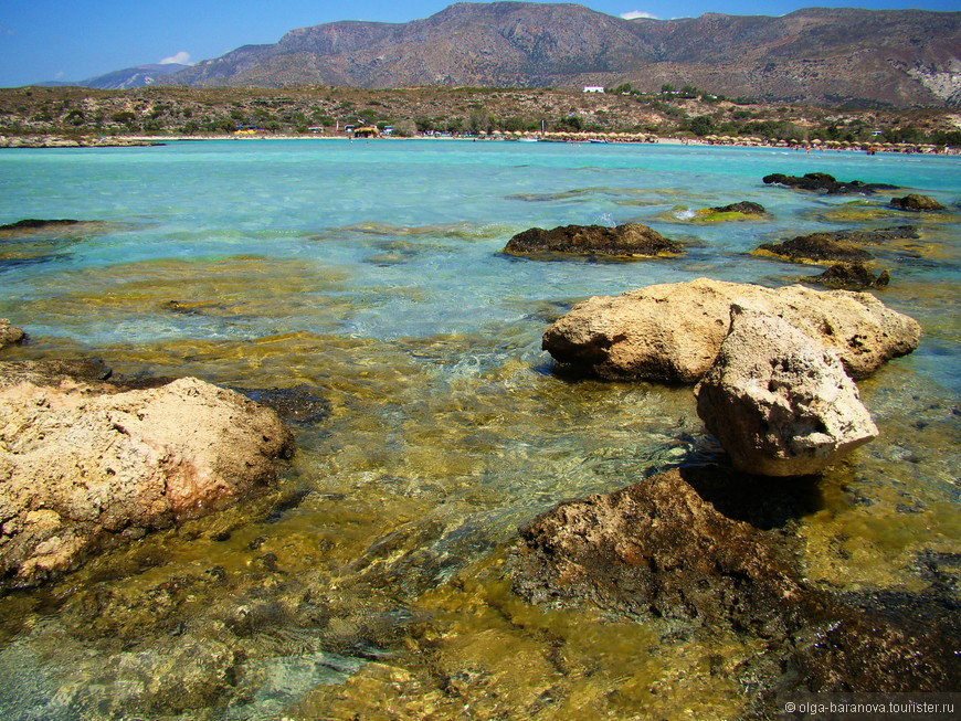 Самой главной особенностью пляжа является его розовый песок, который может менять более 100 оттенков в зависимости от того, в какой части пляжа находится. На сегодняшний день, существует несколько исторических версий того, которые объясняют окрас песка, но в действительности же, он получается из-за измельченных кораллов и ракушек, которые отшлифованы морем. Вода же здесь кристально чистая с аквамариновым цветом, и напоминает об экзотике.