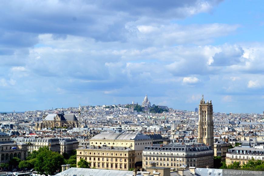 Вид на Монмартр и Сакре-Кёр