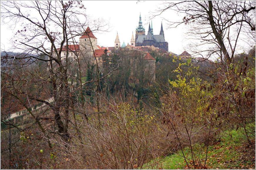 С этого ракурса Пражский Град больше напоминает средневековый замок.
