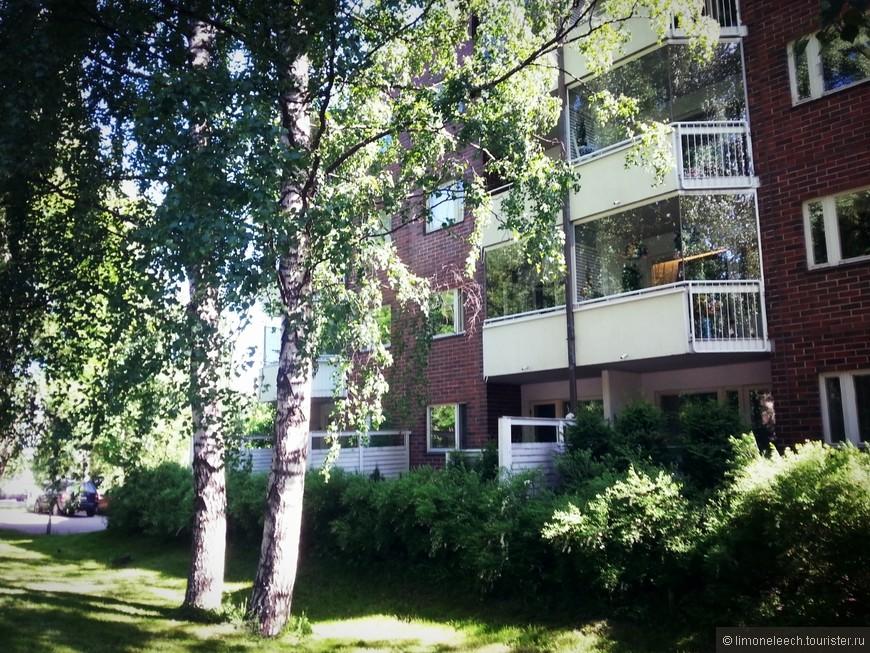 Один из домов на Vesijärvenkatu. На противоположной стороне дороги подъемов в Парк.