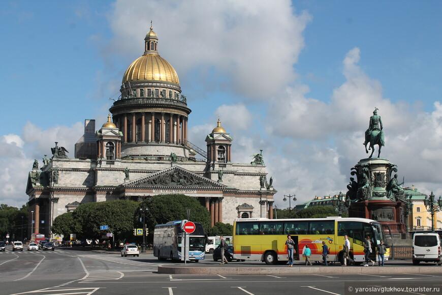 Исаакиевская площадь с памятником Николаю I