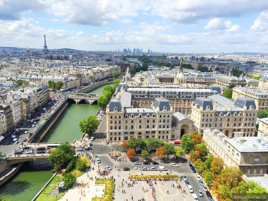 Вид на Париж с нотр дама