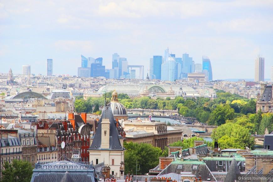 Вид на Париж с нотр дама(современный район-Дефанс)