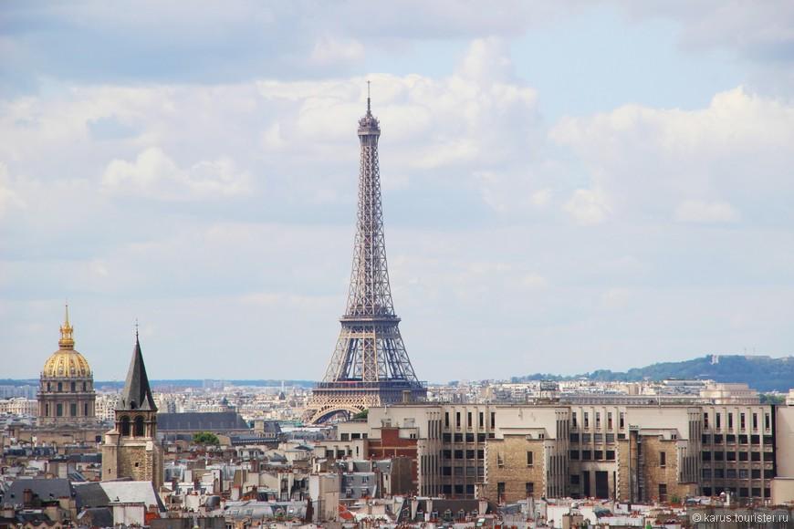Вид на Париж с нотр дама(слева дом инвалидов)