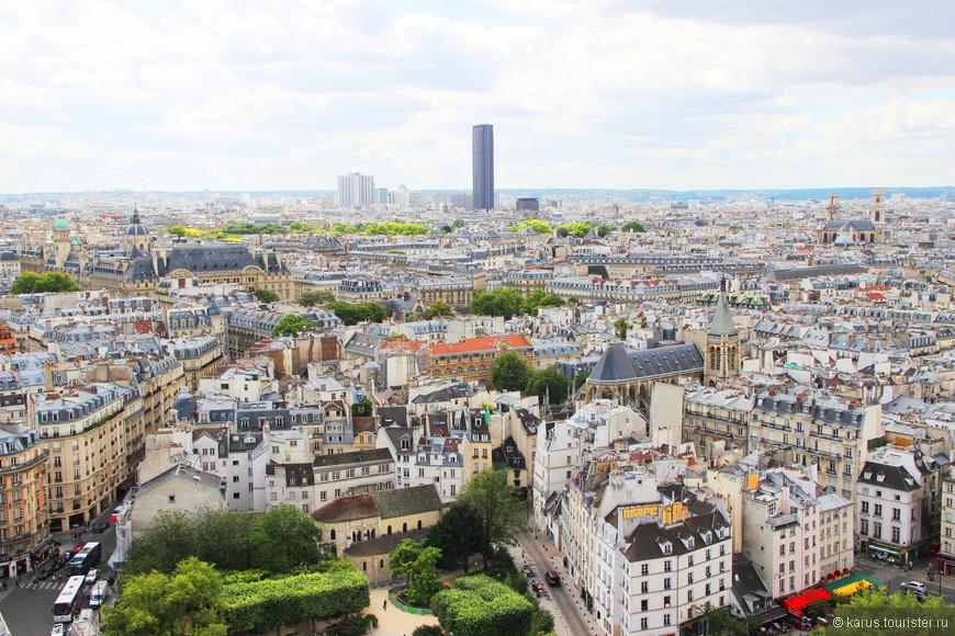"""Высокую башню посередине называют """"парижский зуб"""" Это башня монпарнас."""