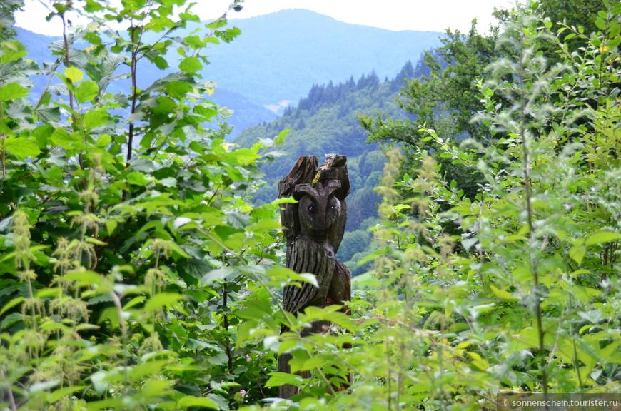 Шварцвальд - место для Германии необычное. И безусловно сказочное. Если Вы читали сказки Гофмана, то действие их проходило в этих местах. И сегодня, бродя по шварцвальдским лесам, можно наткнуться на старые домики в лесу и на сказочные фигурки.