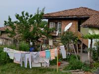 Тихое утро в болгарской деревне.