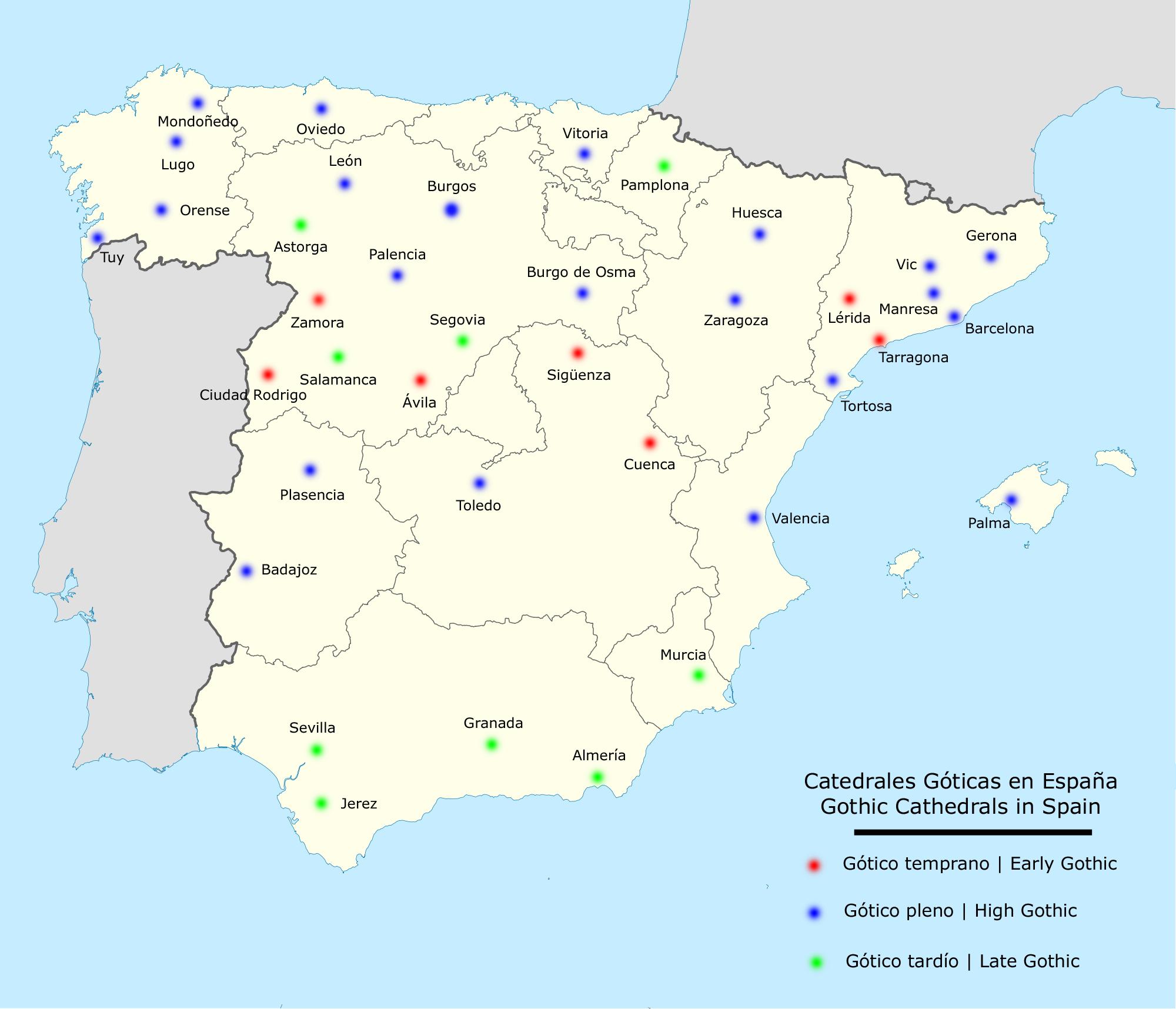 Карта Испании, подробная на русском языке на Туристер.Ру Валенсия Испания Карта