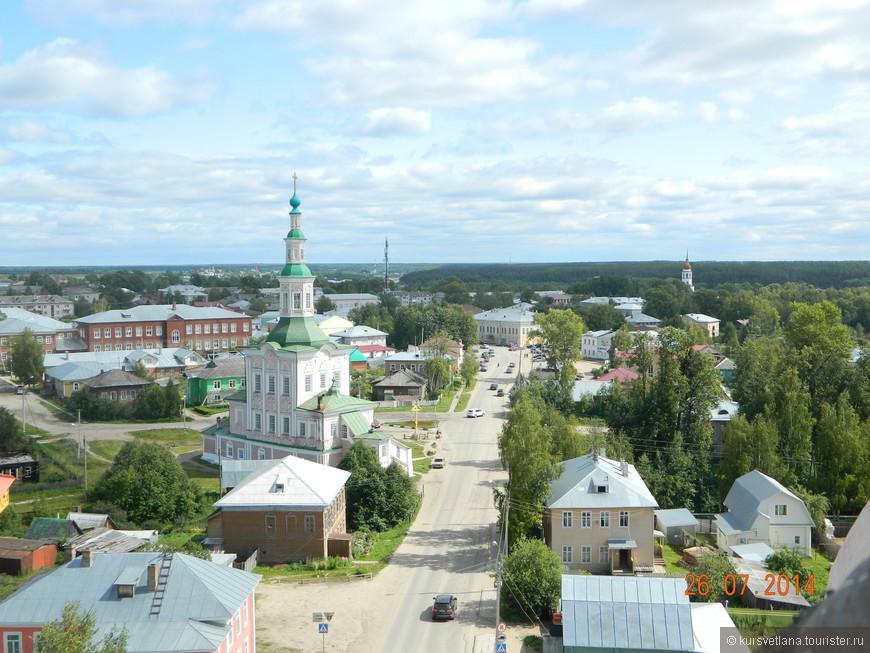 Панорама города Тотьмы
